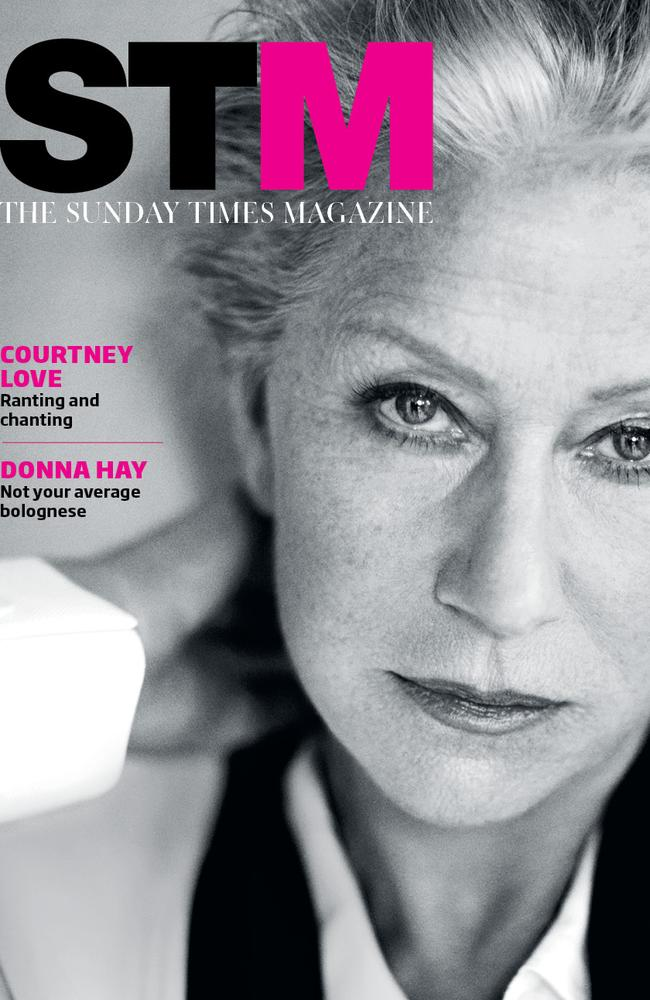 Helen Mirren on the cover of STM for Sunday, August 10.