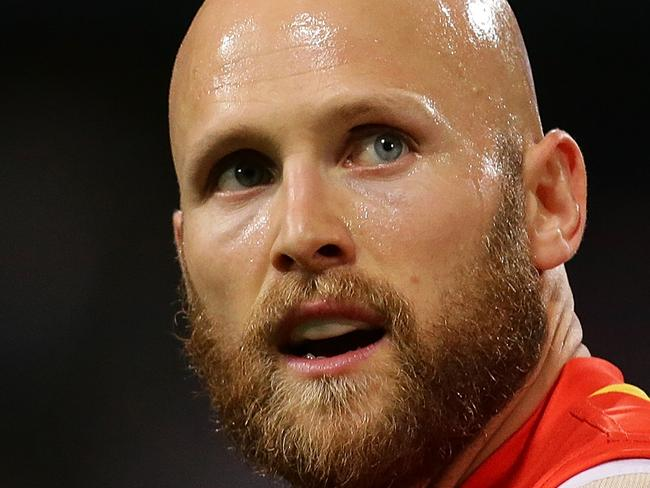 PERTH, WESTERN AUSTRALIA - AUGUST 05: Gary Ablett of the Suns looks on  during the round 20 AFL match between the Fremantle Dockers and the Gold Coast Suns at Domain Stadium on August 5, 2017 in Perth, Australia.  (Photo by Will Russell/AFL Media/Getty Images)