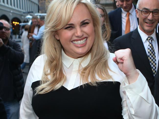 Rebel Wilson leaving the Victorian Supreme Court after winning her case. Picture: AAP Image/ David Crosling