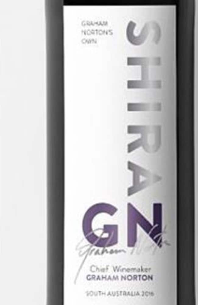 Graham Norton's Shiraz is produced from grapes grown in South Australia. Picture: Supplied