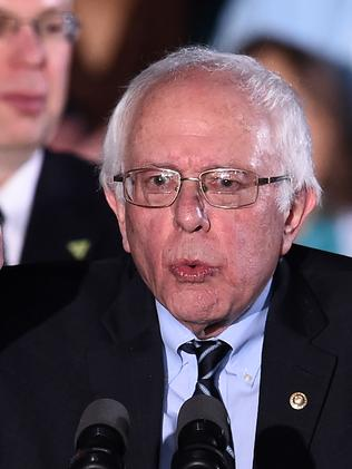 Bernie Sanders was once considered a fringe candidate but smashed Hillary Clinton in New Hampshire with 60 per cent of the vote. Picture: AFP / Jewel Samad