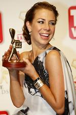 "Winner of the Gold Logie Award 2008. Kate Ritchie in ""Home and Away"", Seven Network."