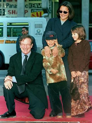 Williams with son Cody, daughter Zelda and second wife Marsha in 1998.