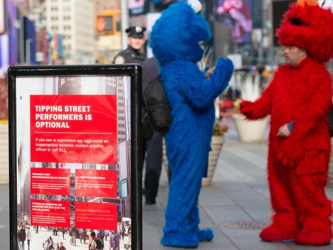 New York City has cracked down on costumed characters harassing tourists.
