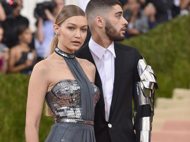 Gigi Hadid and Zayn Malik attend the 'Manus x Machina: Fashion In An Age Of Technology' Costume Institute Gala at Metropolitan Museum of Art.