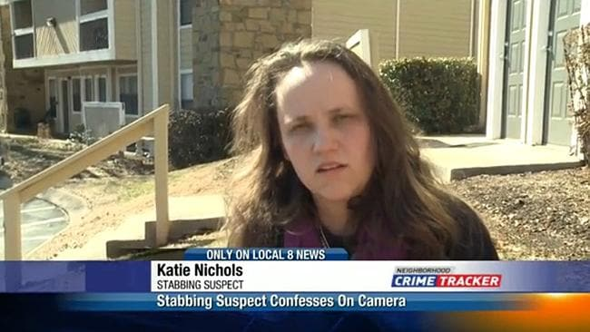 Katie Nichols confessed with the camera rolling.