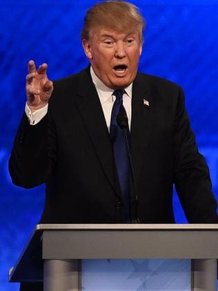 "Republican presidential candidate Donald Trump has threatened terrorists ""with a lot worse than waterboarding"". Picture: AFP/Jewel Samad"