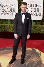 Sam Smith arrives at the 73rd annual Golden Globe Awards on Sunday, Jan. 10, 2016, at the Beverly Hilton Hotel in Beverly Hills, Calif. Picture: AP