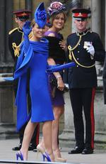 She's seen arriving at the wedding of Prince William and Catherine Middleton. Picture: Jasper Juinen-WPA-Pool/Getty Images