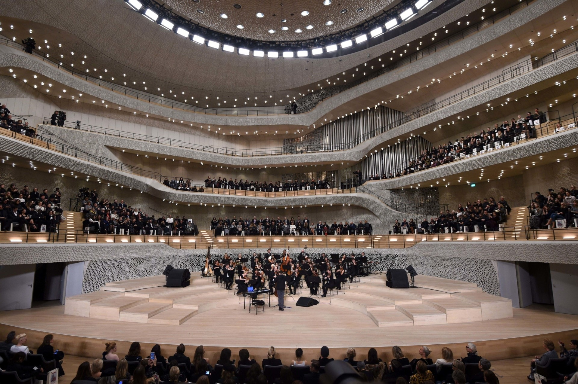 Inside the spectacular Hamburg concert hall which hosted the Chanel pre-fall 2018 show