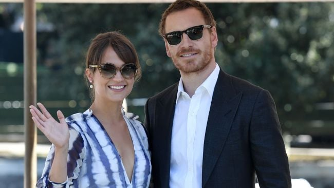 Michael Fassbender and Alicia Vikander at the Venice Film Festival. Photo: Getty