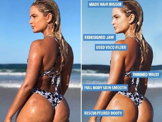 """Karina revealed the edits she had made to the bikini shot.  <a capiid=""""b5099799bdac5bb7747a4453a45bf491"""" class=""""capi-video"""">Luna Dunham Stopped Managing Her Twitter Account Because of Body Shaming</a>"""