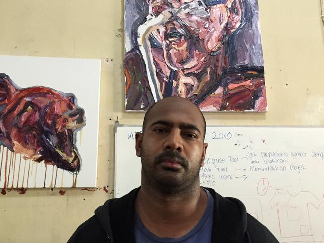 Sukumaran's artworks have been part of exhibitions in jail.