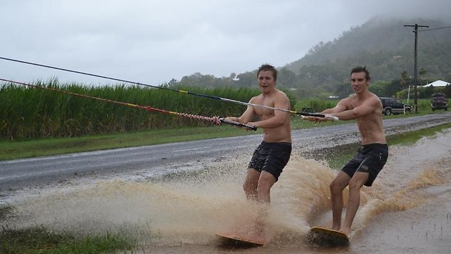 Wakeboarding: monsoonal rains create new playground for wakeboarders. Photo: facebook.com/YourWorldMyLensCairns