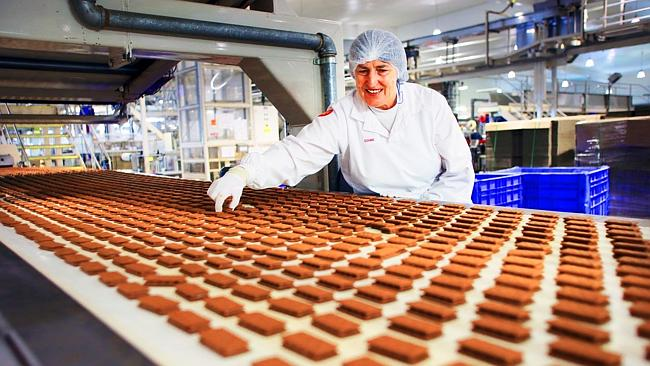 The Tim Tam production line.