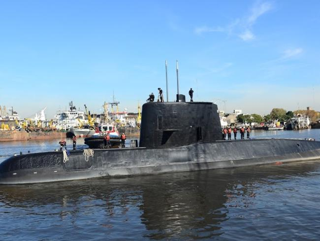 Submarine ARA San Juan docked in Buenos Aires. Picture: AFP