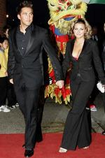 <p>Welsh singer Charlotte Church and Welsh rugby union player Gavin Henson ended a tumultuous five year relationship, just weeks after announcing their engagement, in May 2010. The couple had two children together. (AP Photo/Jon Super).</p>