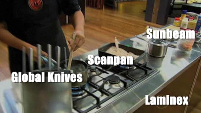You can't escape products - even on MasterChef. We've named the products onscreen. Picture: Courtesy Channel Ten