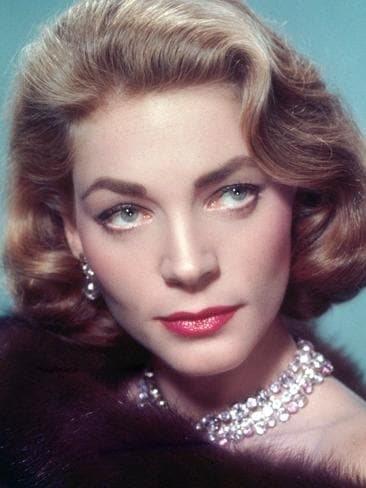 American actress Lauren Bacall, circa 1955. Picture: Getty