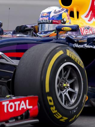 Compared to today in his Infiniti Red Bull F1 car.