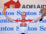 Andre Greipel of Germany and Lotto Soudal celebrates on the podium. Picture: Daniel Kalisz/Getty Images)