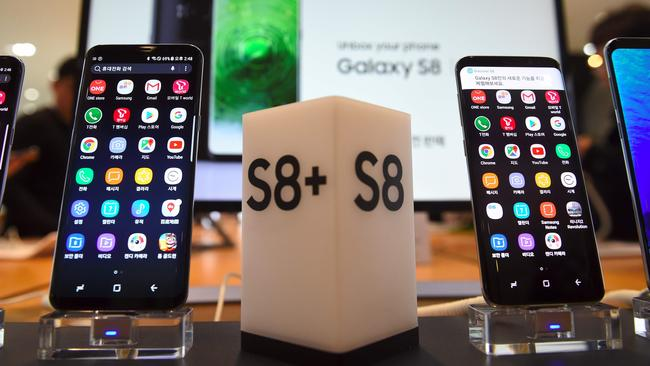 Samsung's new smartphone Galaxy S8 and S8+ are hotly in demand. Picture: AFP Photo