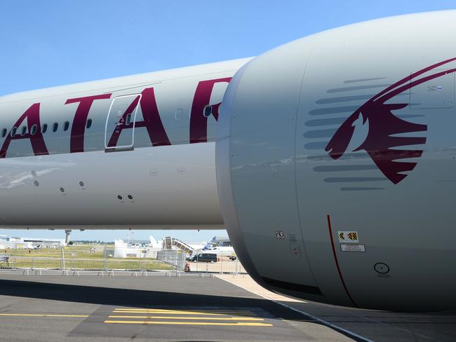 Qatar Airways flights have been affected by the stand-off in the Middle East. Picture: Eric Piermont/AFP