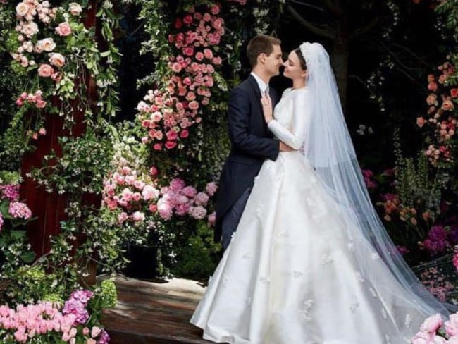 Miranda Kerr and Evan Spiegel married in May after dating for two years. Picture: Instagram