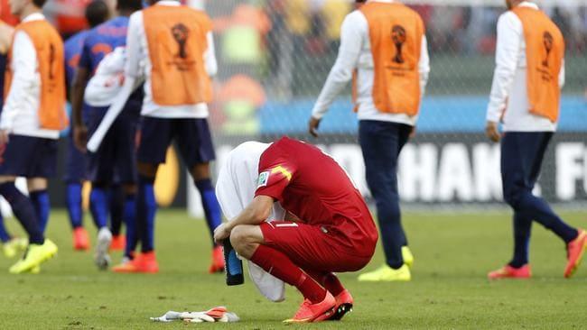 Australia's goalkeeper Mat Ryan was hard to console.