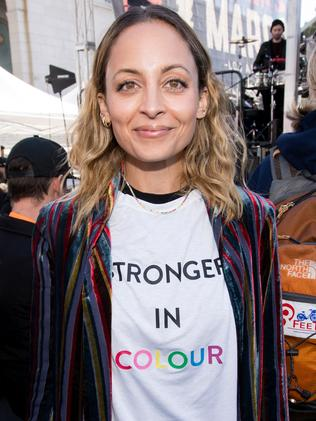 Nicole Richie attends the women's march Los Angeles. Picture: Getty