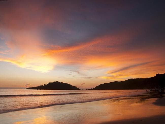 Beautiful sunset on Palolem beach, Goa, India.
