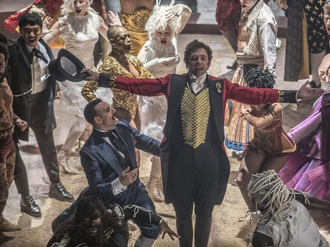Hugh Jackman in a scene from  <i>The Greatest Showman </i>— he is nominated for a Golden Globe for best actor in a motion picture comedy or musical. Picture: Supplied