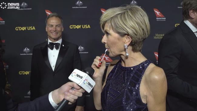 'That is like nectar' said Julie Bishop.