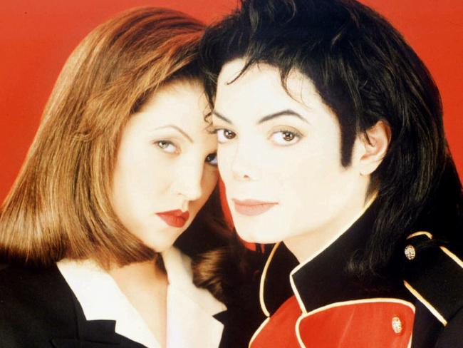 Lisa Marie had a short-lived marriage to Michael Jackson in the nineties. Picture: Jonathan Exley/AP