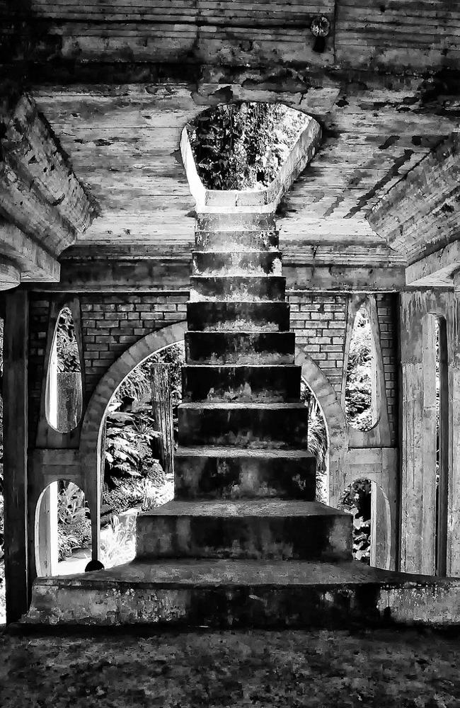 Stairway to nowhere. Picture: Rod Waddington