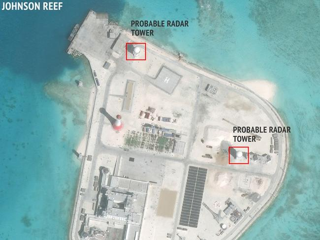 None of the poorer Asian countries that dispute China's occupation of these islands can compete with its sophisticated technology. Picture: CSIS Asia Maritime Transparency Initiative/DigitalGlobe