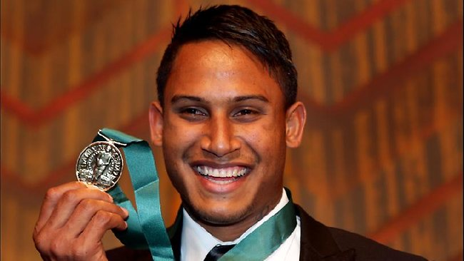 Ben Barba after winning the Dally M medal last year. Picture: Gregg Porteous