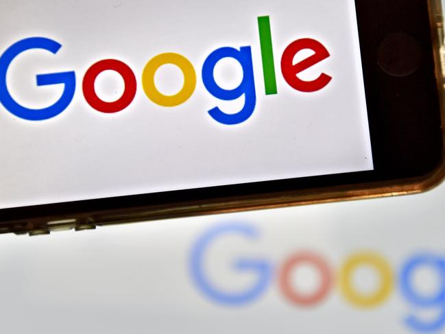 "(FILES) This file photo taken on December 28, 2016 in Vertou, western France, shows logos of US multinational technology company Google.    Google found itself at the center of controversy on August 6, 2017 after an employee in a leaked internal document claimed ""biological causes"" explained the lack of women in tech industry leadership roles.The screed -- dubbed ""sexist"" by US media -- went viral, reviving the simmering debate over a culture of sexism and lack of diversity in tech sectors.  / AFP PHOTO / LOIC VENANCE"