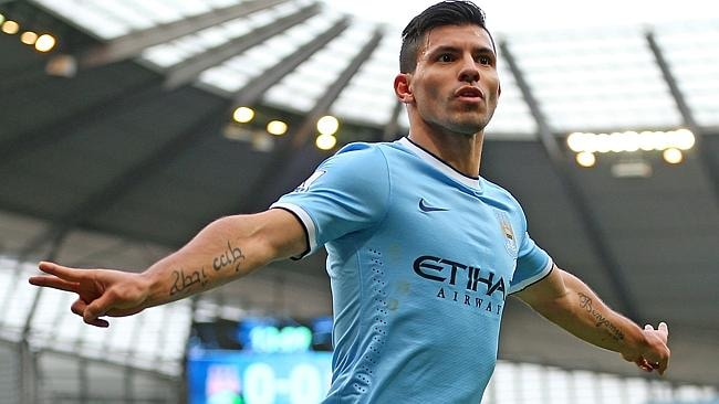 Sergio Aguero is a goalscoring MACHINE for City.