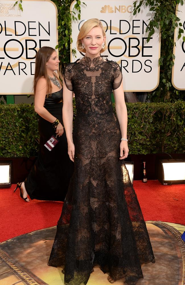 Cate Blanchett attends the 71st Annual Golden Globe Awards held in Los Angeles in January 2014. Source: Getty Images