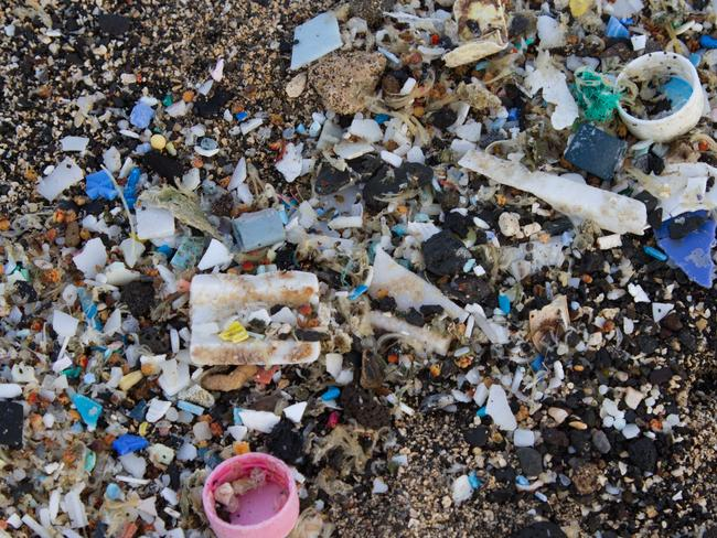 A photo of Kamilo Beach in Hawaii which is known for its accumulation of plastic debris from the Great Pacific Garbage Patch. Picture: Tim Silverwood.