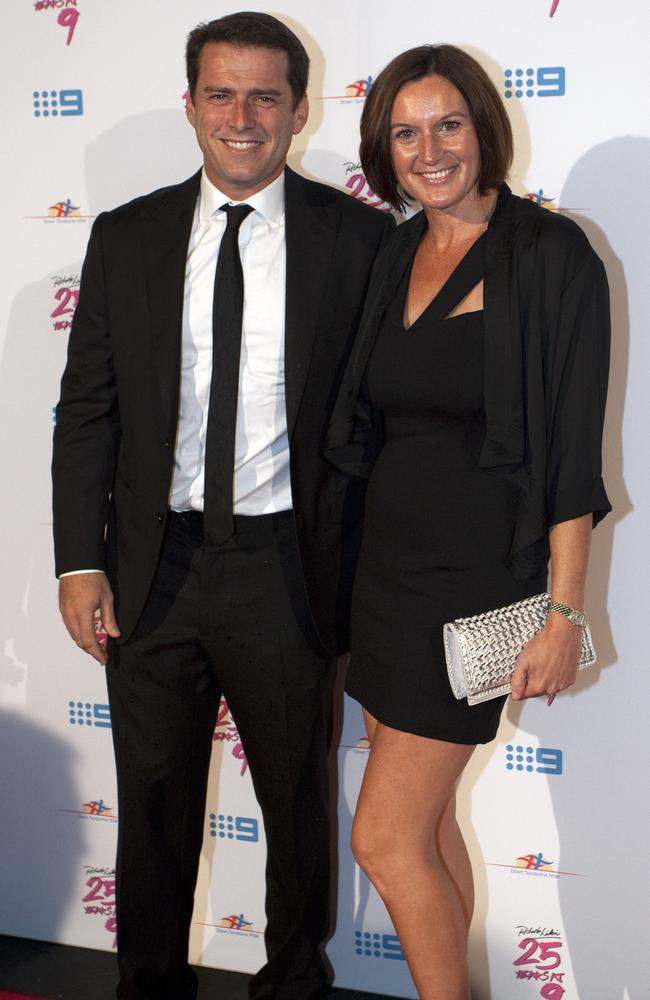 Karl Stefanovic and wife Cass Thorburn before their split.