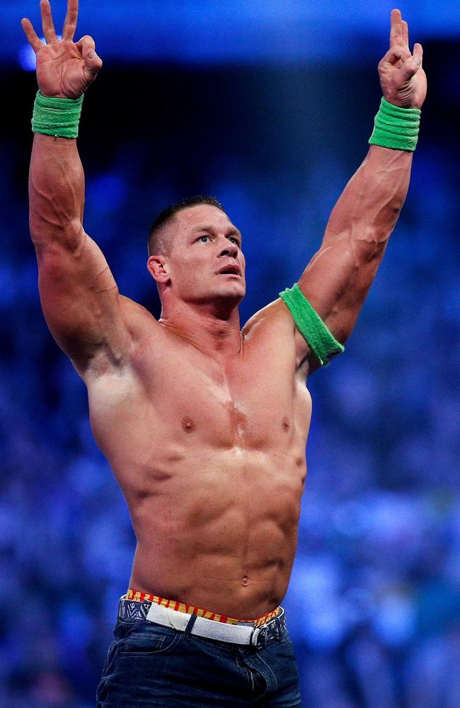 Wrestling superstar and actor John Cena wasn't always interested in working out.