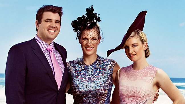 SUNDAY MAIL - MAGIC MILLIONS - Zara Phillips shines the spotlight on young South Australians in the horseracing industry - Sam Kavanagh & Jamie Kah With Zara Phillips