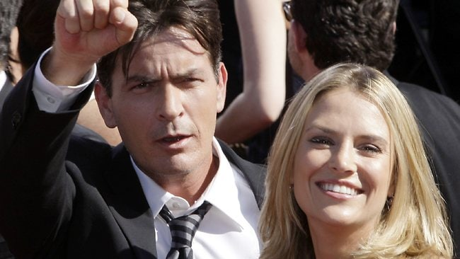 Charlie Sheen is reluctant to pay Brooke Mueller child support while she is in rehab. Picture: Kevork Djansezian
