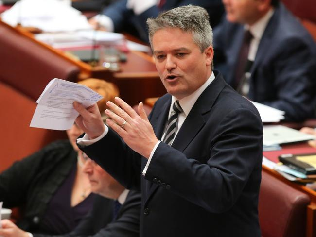 Tax scrapped today — promise! … Finance Minister Mathias Cormann.