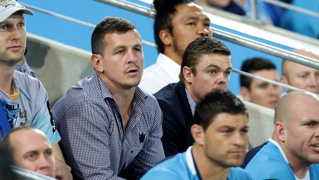 Greg Bird on the bench during the Round 11 NRL game between the Gold Coast Titans and the Warriors at Cbus Super Stadium, Robina. Pics Adam Head