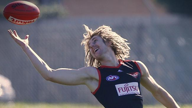 Dyson Heppell at Essendon training. Picture: Wayne Ludbey
