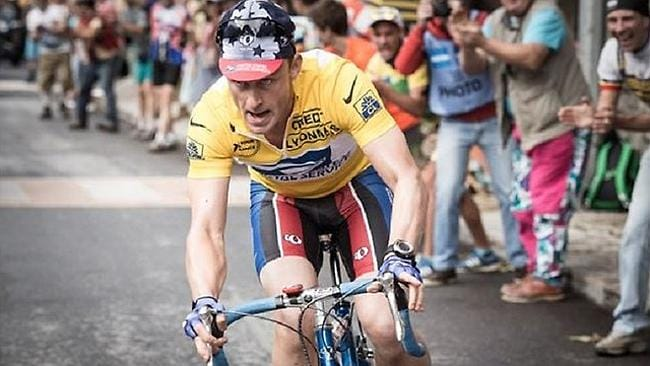 Ben Foster plays Lance Armstrong in an upcoming Stephen Frears film. Picture: Larry Horricks / StudioCanal