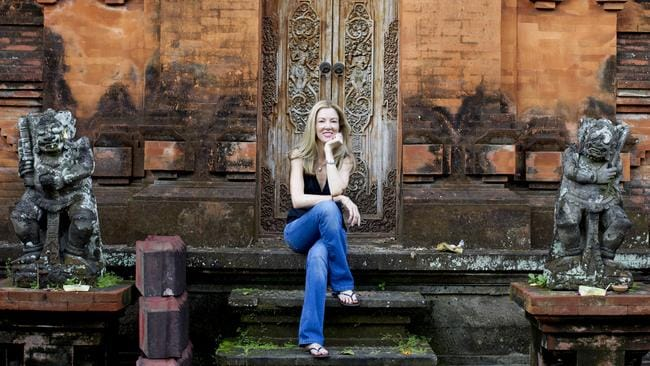 Australian journalist Kathryn Bonella in Bali. Picture: Jason Childs